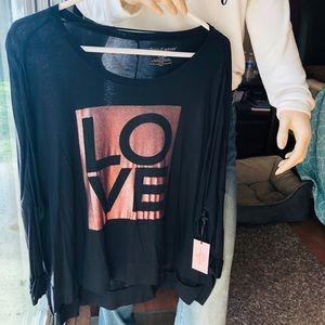 NWT juicy couture love rose gold shirt medium